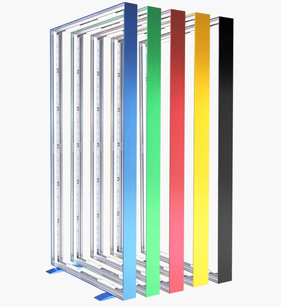 Lightbox ram i valfri färg