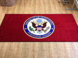 Logomatta till USA's ambassad