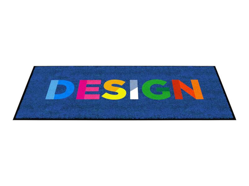 Bild på logomatta med texten Design