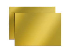 Exklusiva C4-kuvert i metallicpapper med tryck