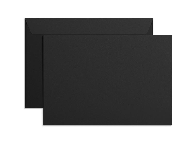 Exklusiva svarta C4-kuvert med tryck