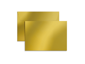 Exklusiva C6-kuvert i metallicpapper med tryck