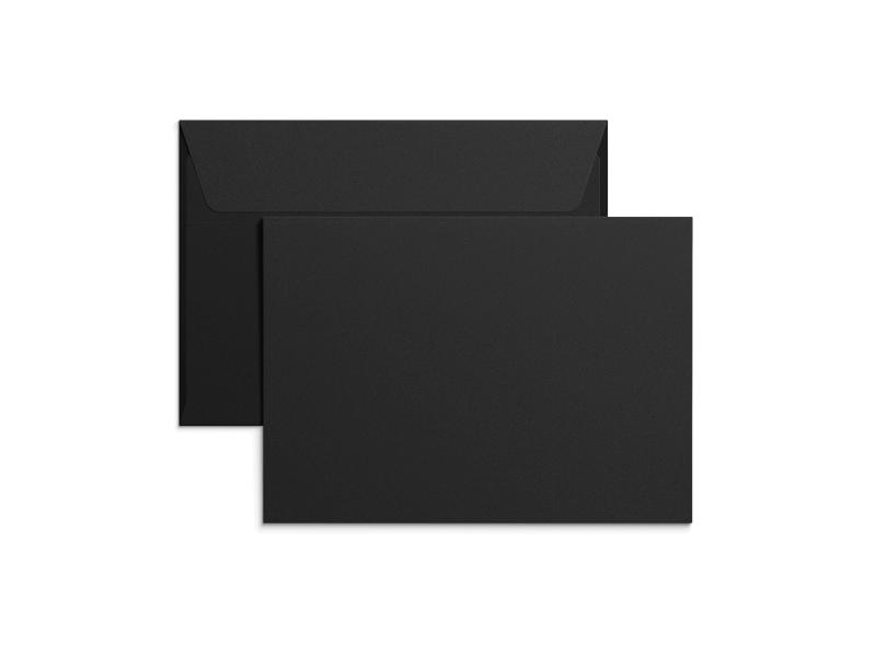Exklusiva svarta C6-kuvert med tryck
