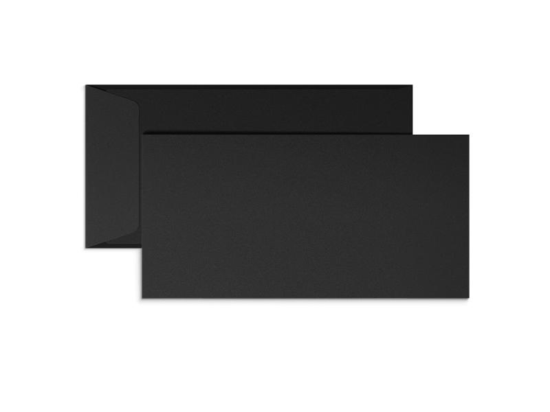 Exklusiva svarta E65-kuvert med tryck
