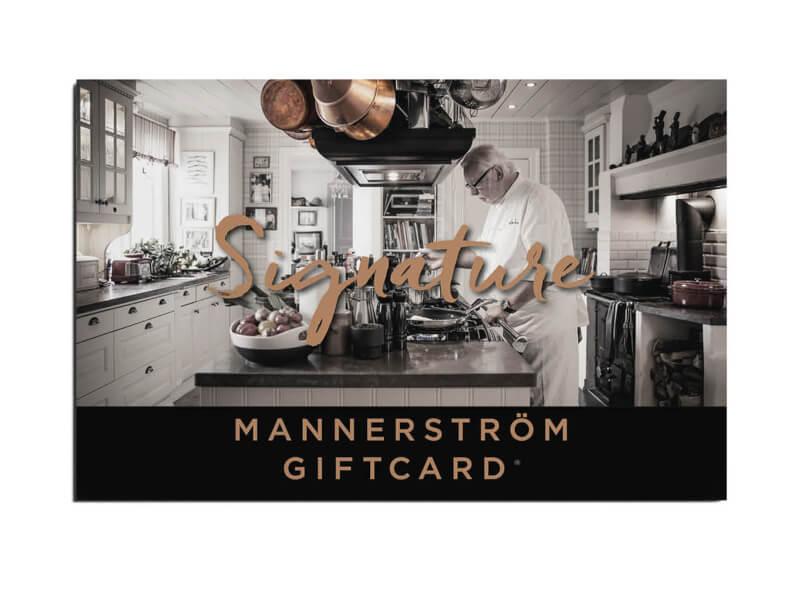 Mannerströms Gåvokort Signature 498:-