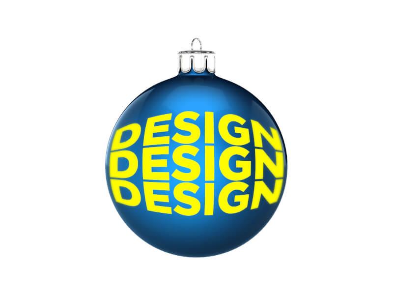 Julgranskula 7 cm med eget tryck / logo
