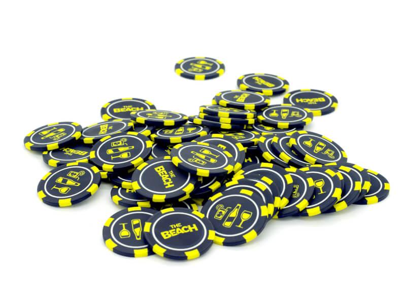 Pokermarker med tryck