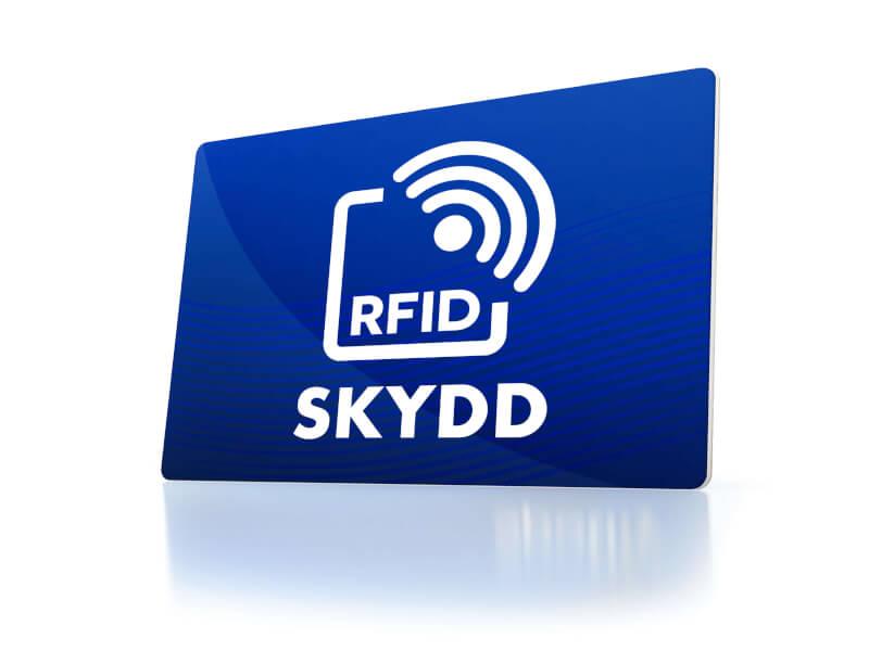 Anti-skimming kortsköld med tryck - RFID