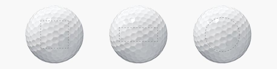 Golfbollar med tryck - Referensbild