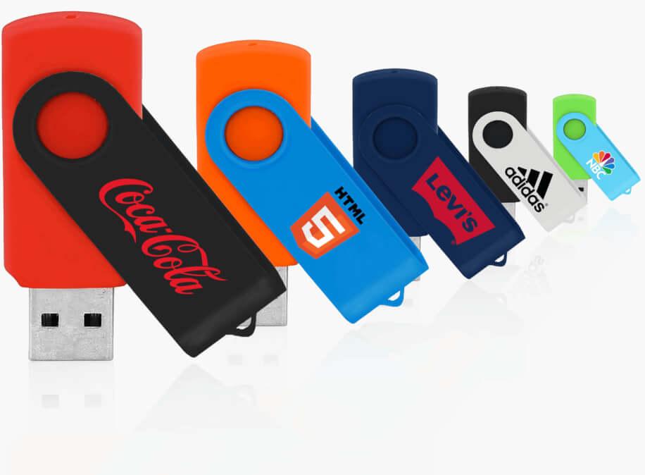 USB-minnen med tryck